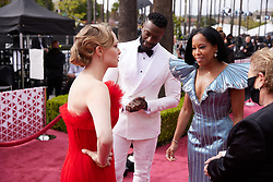 Oscar® nominee Amanda Seyfried (L) and Regina King (2nd from R) and guests arrive on the red carpet of The 93rd Oscars® at Union Station in Los Angeles, CA, USA on Sunday, April 25, 2021. Photo by A.M.P.A.S. via ABACAPRESS.COM on Sunday, April 25, 2021.