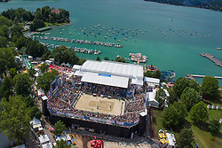 02.08.2014, Strandbad, Klagenfurt, AUT, A1 Beachvolleyball Grand Slam 2014, im Bild Centercourt Final // during the A1 Beachvolleyball Grand Slam at the Strandbad Klagenfurt, Austria on 2014/08/02. EXPA Pictures © 2014, EXPA Pictures © 2014, PhotoCredit: EXPA/ Mag. Gert Steinthaler