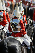 Soldier of Life Guards Regiment at Trooping The Colour parade in London, UK