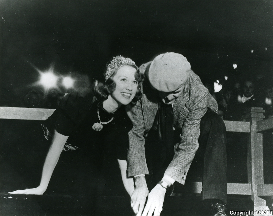 1937 Eleanor Powell's hand and footprint ceremony at the Chinese Theater