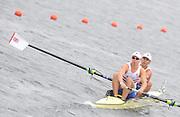 Eton. Great Britain. GBR JM2- Bow Oleg ISAEV and Andrew BROWN competing in the Junior Men's Pair.  Eton Rowing Centre 2011 FISA Junior  World Rowing Championships. Dorney Lake, Nr Windsor. Thursday, 04/08/2011  [Mandatory credit: Peter Spurrier Intersport Images]