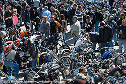 An incredible crowd turned out to view what seemed like a sea of custom Harleys on display at the Chopper Time Old School Bike Show at Willie's Tropical Tattoo during Daytona Bike Week. Ormond Beach, FL. USA. Thursday March 16, 2017. Photography ©2017 Michael Lichter.