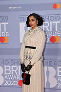 The 40th BRIT Awards show  Tuesday 18th February at The O2 Arena in London.<br /> Celeste