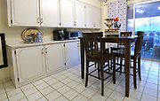 """Overall view of the kitchen. Photo taken on January 8, 2019 for """"At Home"""" feature on Sandy Stolberg, who uses dollar store finds as part of the decorations in her Belleville, IL condo.<br /> Photo by Tim Vizer"""