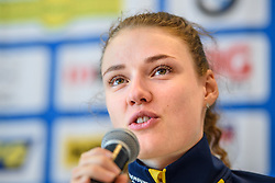 March 15, 2019 - –Stersund, Sweden - 190315 Hanna Öberg of Sweden at a press conference with the Swedish Biathlon team during the IBU World Championships Biathlon on March 15, 2019 in Östersund..Photo: Petter Arvidson / BILDBYRÃ…N / kod PA / 92267 (Credit Image: © Petter Arvidson/Bildbyran via ZUMA Press)