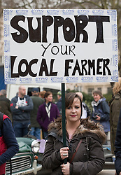 © Licensed to London News Pictures. 23/03/2016. London, UK. Farmers demonstrate in London as they call for support of the farming sector. Photo credit: Peter Macdiarmid/LNP