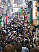 Takeshita Street a very crowded shopping day Harajuku in Tokyo