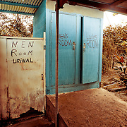 Image of restroom facilities in the backcountry of Belize.