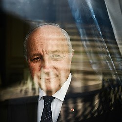 Laurent Fabius, posing at the Constitutional Council, of which he's the president. Paris, France. May 29, 2019.<br /> Laurent Fabius, prenant la pose au Conseil Constitutionnel dont il est le president. Paris, France. 29 mai 2019.