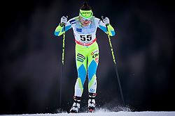 Barbara Jezersek of Slovenia during Ladies 1.2 km Free Sprint Qualification race at FIS Cross Country World Cup Planica 2016, on January 16, 2016 at Planica, Slovenia. Photo By Urban Urbanc / Sportida