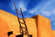 Image of the New Mexico Museum of Art in Santa Fe, New Mexico, American Southwest by Randy Wells