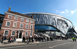 Fans make their way to the new Tottenham Hotspur's stadium prior to the U18 Premier League test event match at Tottenham Hotspur Stadium, London.