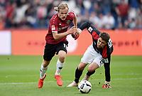 Fotball<br /> Tyskland<br /> Foto: Witters/Digitalsport<br /> NORWAY ONLY<br /> <br /> v.l. Iver Fossum (Hannover), Torwart Rene Vollath<br /> Hannover, 21.09.2016, Fussball, 2. Bundesliga, Hannover 96 - Karlsruher SC