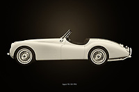 A true expression of the British lifestyle, this painting of a 1954 Jaguar XK-120 is so suitable to be placed in an interior that this phlegm should propagate. With this 1954 Jaguar XK-120 your Great Britain really place in your interior.<br /> <br /> This painting of a Jaguar XK-120 from 1954 can be printed very large on different materials. –<br /> <br /> BUY THIS PRINT AT<br /> <br /> FINE ART AMERICA<br /> ENGLISH<br /> https://janke.pixels.com/featured/jaguar-xk-120-black-and-white-jan-keteleer.html<br /> <br /> WADM / OH MY PRINTS<br /> DUTCH / FRENCH / GERMAN<br /> https://www.werkaandemuur.nl/nl/shopwerk/Jaguar-XK-120/743608/132?mediumId=11&size=75x50<br /> <br /> -