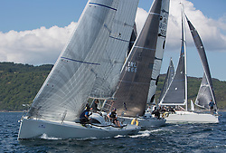 Final days' racing at the Silvers Marine Scottish Series 2016, the largest sailing event in Scotland organised by the  Clyde Cruising Club<br /> <br /> Racing on Loch Fyne from 27th-30th May 2016<br /> <br /> Class 2, start with , Ted, Carmen and IRL3061, Fools Gold, Robert McConnell, A35<br /> <br /> Credit : Marc Turner / CCC<br /> For further information contact<br /> Iain Hurrel<br /> Mobile : 07766 116451<br /> Email : info@marine.blast.com<br /> <br /> For a full list of Silvers Marine Scottish Series sponsors visit http://www.clyde.org/scottish-series/sponsors/