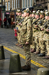 The 2nd Scots will be on parade on Monday 30 March for the dissolution of the UK parliament and wer in Edinburgh to practice their part in the process..  Edinburgh  (c) Ger Harley | StockPix.eu, 24 March 2015