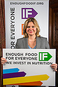 Justine Greening MP supporting the Enough Food for Everyone?IF campaign. .MP's and Peers attended the parliamentary launch of the IF campaign in the State Rooms of Speakers House, Palace of Westminster. London, UK.