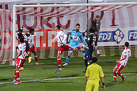 Goal Serge AURIER - 17.12.2014 - Ajaccio / Paris Saint Germain - Coupe de la ligue -<br />Photo : Jean Pierre Belzit / Icon Sport
