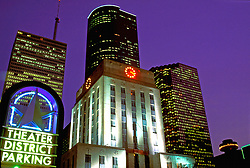 Stock photo of City Hall near the theater district in downtown Houston, Texas