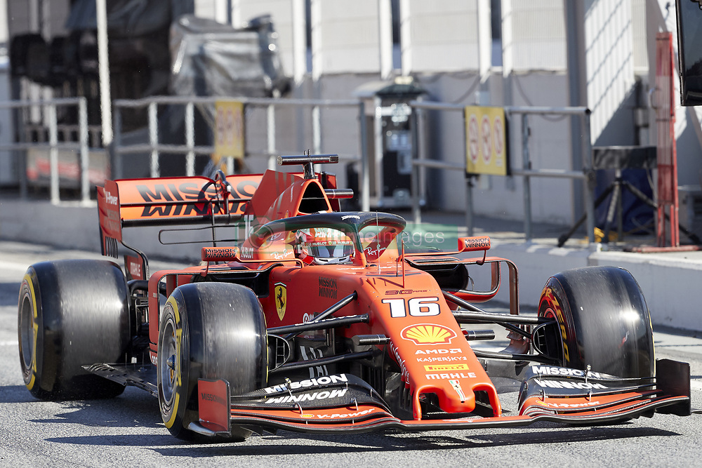 February 26, 2019 - Spain - Charles Leclerc (Scuderia Ferrari Mission Winnow) SF90 car, seen in action during the winter testing days at the Circuit de Catalunya in Montmelo  (Credit Image: © Fernando Pidal/SOPA Images via ZUMA Wire)