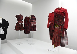 The Clothingat the Press Preview of Rei Kawakubo/Comme des Garcons: Art of the In-Between exhibit at The Costume Institute at the Metropolitan Museum of Art on May 1, 2017 in New York, New York, USA.  *** Please Use Credit from Credit Field ***