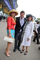 Left to right, MR & MRS MARK STEWART and LADY STEWART  at day 2 of the 2011 Royal Ascot Racing festival at Ascot Racecourse, Ascot, Berkshire on 15th June 2011.