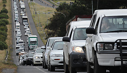 091110-Cape Town. Slow moving traffic on the N1 outgoing from Old Oak turn off to the Stellenbosch off ramp. Picture Henk Kruger