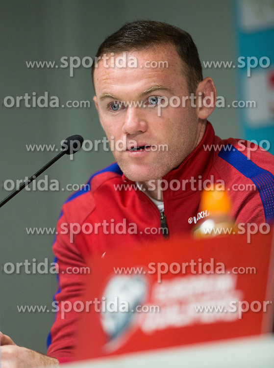 Wayne Rooney during press conference of England 1 day before football match between National teams of Slovenia and England in Round #3 of FIFA World Cup Russia 2018 qualifications in Group F, on October 10, 2016 in SRC Stozice, Ljubljana, Slovenia. Photo by Vid Ponikvar / Sportida