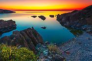 Small sea bay at dawn