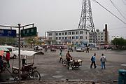 Street scene in De Hui city, Jilin Province. North Eastern China.