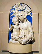 Virgin and Child. Relief sculpture by Andrea della Robbia (1435–1525)Italian (Florence). ca. 1470–75 Glazed terracotta