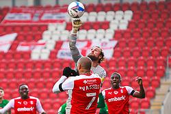 Declan Rudd of Preston North End punches the ball clear - Mandatory by-line: Ryan Crockett/JMP - 07/11/2020 - FOOTBALL - Aesseal New York Stadium - Rotherham, England - Rotherham United v Preston North End - Sky Bet Championship