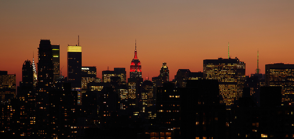 Midtown skyline from 250 East 87th Street, 30th floor