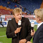NLD/Amsterdam/20060823 - Ajax - FC Kopenhagen, Tom Egbers en Youri Mulder, live uitzending Studio Sport