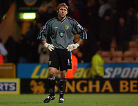 Fotball<br /> England 2004/2005<br /> Foto: SBI/Digitalsport<br /> NORWAY ONLY<br /> <br /> Barclays Premiership.<br /> Norwich City v Fulham<br /> 4/12/2004.<br /> <br /> Norwich's goal keeper Robert Green shows his disappointment as his sidelose at home despite his fine display