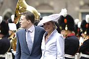 On Queensday, april 30th Queen Beatrix attends with her family ( Willem Alexander en  Maxima , Constantijn en Laurentien, Prince Friso en Mabel, Princes Margriet en  Pieter van Vollenhoven, Marilène en Maurits, Bernhard en Annette, Pieter-Christiaan met Anita van Eijk, Prince Floris met Aimée Söhngen) a special 25th jubilee ceremony of the dutch goverment in de Ridderzaal, The Hague.<br /> <br /> Op Koninginnedag, 30 april, is de Koningin en haar familie ( Willem Alexander en  Maxima , Constantijn en Laurentien, Prins Friso en Mabel, Prinses Margriet en  Pieter van Vollenhoven, Marilène en Maurits, Bernhard en Annette, Pieter-Christiaan met Anita van Eijk, Prins Floris met Aimée Söhngen) aanwezig bij een jubileumbijeenkomst van de Eerste en Tweede Kamer der Staten-Generaal in de Ridderzaal.<br /> <br /> On the Photo / Op de foto<br /> <br /> Prins Constantijn en Prinses Laurentien