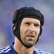 Chelsea Goalkeeper Petr Cech warming up before the Chelsea V AC Milan Guinness International Champions Cup tie at MetLife Stadium, East Rutherford, New Jersey, USA.  4th August 2013. Photo Tim Clayton