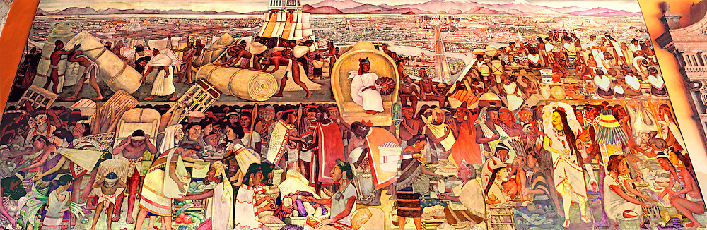MEXICO, MEXICO CITY, MURALS Rivera's 'Grand Tenochtitlán' Aztec capital