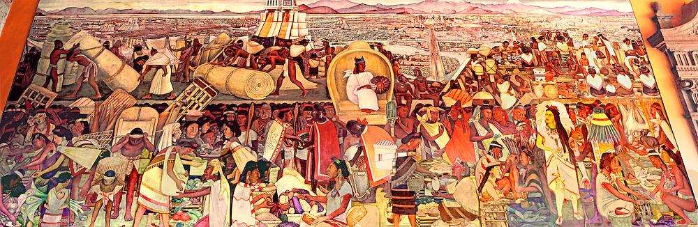 MEXICO, MEXICO CITY, MURALS Rivera's 'Grand Tenochtitlán' Aztec capital