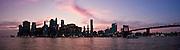 Panoramic view of New York's Skyline at sunset