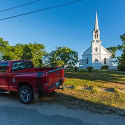 Sawyer Memorial Congregational Church in Jonesport, Maine.