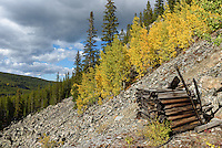 This is one of many old mining relics found near Lake Geneva in the Cloud Peak Wilderness.
