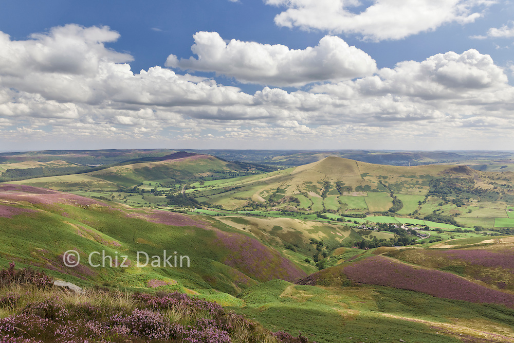 Looking back from Crookstone Out Moor down Jaggers Clough (Win Hill in distant background)