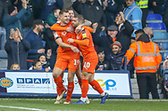 Goal Luton Town forward James Collins (19) scores from the penalty spot during the EFL Sky Bet League 1 match between Luton Town and Plymouth Argyle at Kenilworth Road, Luton, England on 17 November 2018.