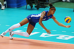 Cuba Melissa Teresa Vargas Abreu digs a ball