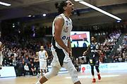 Basketball: 1. Bundesliga, Hamburg Towers - Hakro Merlins Crailsheim 91:92, Hamburg, 29.02.2020<br /> Jubel von Jorge Gutierrez (Towers)<br /> © Torsten Helmke