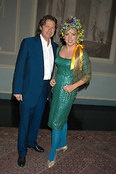 Actress KATRINE BOORMAN and writer DANNY MOYNIHAN at a party hosted by Tatler magazine to celebrate the publication of Lunar park by Bret Easton Ellis held at Home House, 20 Portman Square, London W1 on 5th October 2005.<br />