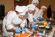 Culinary cooking contest at the 2011 WLRA ProStart Competition.
