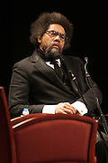 """April 18, 2012- New York, NY : Dr. Cornel West, professor of religion and African-American studies at Princeton University attends the Tavis Smiley and Cornel West Talk and Booksigning of their co-authored new book ' The Rich & the Rest of Us: A Poverty Manifesto ' presented by Dr. Brenda Greene and the National Black Writers Conference held at the Slyvia and Danny Kaye Playhouse at Hunter College (CUNY) on April 20, 2012 in New York City. ..The latest census data shows nearly one in two Americans, or 150 million people, have fallen into poverty  or could be classified as low income. Dr. Cornel West and Tavis Smiley, who continue their efforts to spark a national dialog on the poverty crisis with the new book, """"The Rich and the Rest of Us: A Poverty Manifesto."""" (Photo by Terrence Jennings)."""