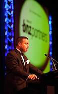 Tony Arthur from Platinum Sponsor, BNZ Partners, speaks at the 2010 Ahuwhenua Trophy  Bank of New Zealand Maori Excellence in Farming competition awards dinner held at the Taupo Event Centre, Taupo. Friday 28 May 2010.<br /> <br /> ***FREE FOR EDITORIAL USE***<br /> <br /> PHOTO COURTESY: ahuwhenuatrophy.co.nz